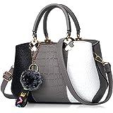 NICOLE & DORIS 2021 Neue Frauen Tasche Damen Leder Handtasche Mode Umhängetasche Mit Pompon abnehmbarem Schultergurt Handtasc