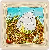 Goki 57521 - Schichtenpuzzle - Das Huhn