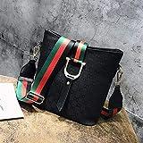 XIAOXINYUAN Frauen Umhängetasche Tote Umhängetasche Vintage Printing Damen Einfache Freizeit Messenger Bags Große Handtasche Schwarz