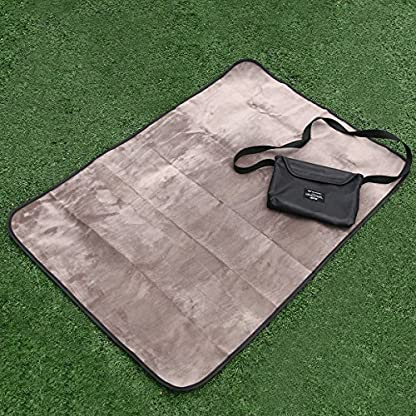 UEETEK Waterproof Pet Blanket Collapsible Plush Pet Mat for Dog Puppy Cat Indoor Outdoor Lawn Use,100*70CM 6