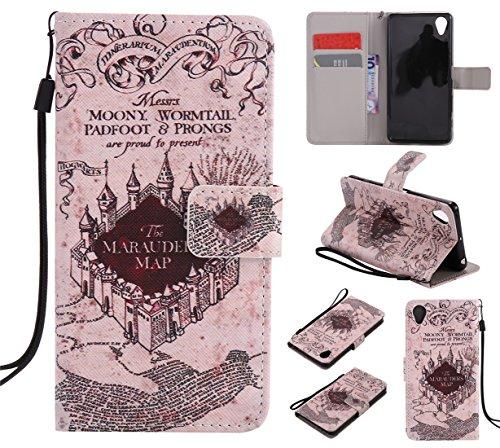 Nancen Sony Xperia X Performance (5 zoll) Hülle / Handyhülle, Painted Retro PU Leder Tasche Schutzhülle Case Lederhülle Flip Cover mit Standfunktion, zwei Kartenfächer und Eine Brieftasche Etui [Alte Schloss]