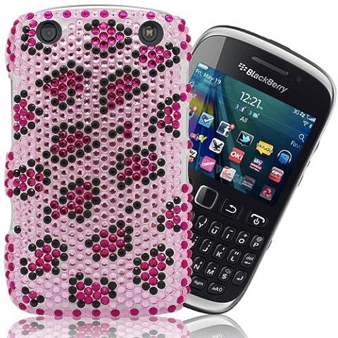 Gadget Giant Blackberry Curve 9320Rose Imprimé Léopard Diamant Perle Strass Bling Coque et film protecteur d'écran LCD