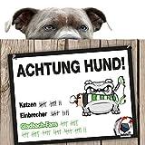 Hunde-Warnschild Schutz vor Gladbach-Fans | FC Köln, Bayer 04- & Alle Fußball-Fans, Dieser Revier-Markierer schützt Haus & Hof vor Mönchengladbach-Fans | Spaßgarantie | Achtung Vorsicht Hund Bissig