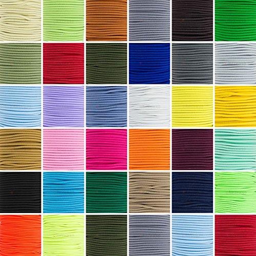 e-kurzwaren 5m Gummikordel 1mm / 2mm / 2,5mm / 3mm / 4mm / 5mm Hutgummi hochwertig Rundgummi Gummischnur elastisch Handwerk 32 Farben