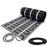 Mi-Heat Infrarot Heizmatte 17mm breiten 1,0m² 200Watt/m² Infrarotheizung Elektrische Fußbodenheizung Elektroheizung Unterbodenheizung
