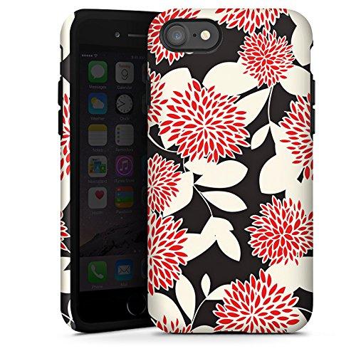 Apple iPhone X Silikon Hülle Case Schutzhülle Blumen Ornamente Muster Tough Case glänzend