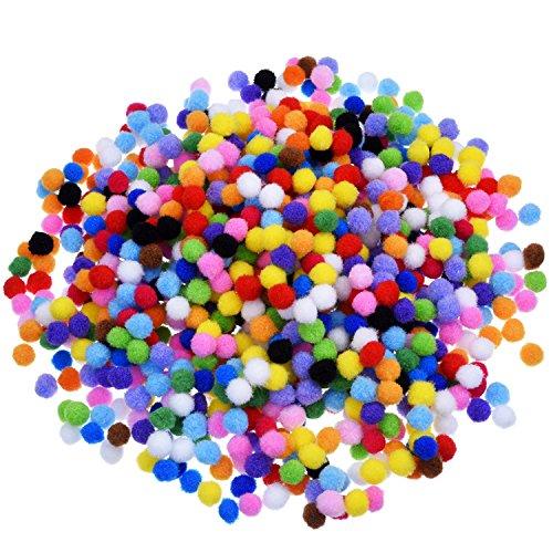 Pompons für Handwerkmachen und Hobbybedarf 0,4 Zoll, 1000 Stück, Mehrfarbig (Diy Kostüme Für Kinder)