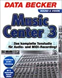 Produkt-Bild: Music Center 3. 2 CD- ROMs für Windows 95C/98SE/ NT4(SP6)/2000/ ME. Das komplette Tonstudio für Audio- und MIDI- Recording