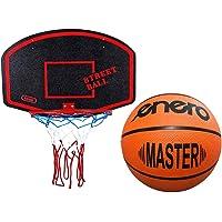 Basketballkorb mit Ball Basketball Korb Set Basketballspiel Manschaftssport schwarz-rot