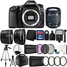 Canon Eos 80D 24.2MP Digital SLR Camera With 18-55mm Lens And 32GB Accessory Bundle