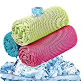 BESROY Cooling Towel 3 Pcs, Ice Towel, Microfiber Towel For Instant Cooling Relief