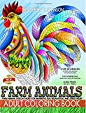 Farm Animals Adult Coloring Book: Farm Animal Design Patterns for Immersive Fun, Relaxation, and Stress Relief: Volume 5 (Color To Live)