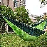 WENBIAOXUE wenbiaoxuelightweight Doppel-Hängematte, Belastbarkeit: max. 300kg-inkl. 2x M, 2x-, 2x-, 1x-Bag für Outdoor, Picknick, 275x 140cm grün