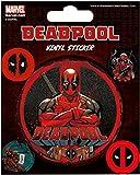 Pyramid International Deadpool Stickers muraux en vinyle, papier, Multicolore, 10x 12.5x 1.3cm