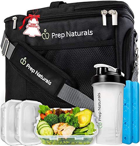 Meal Prep Isolierte Lunchtasche für Männer - Meal Prep Kühltasche mit Behältern - Isolierte Herren Lunchbox für Männer Lunchtaschen für Frauen Herren Lunchtasche für Arbeit Erwachsene