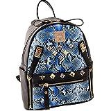 Damen PU Lederrucksack Mode PU Leder Rucksack Cityrucksack Stadtrucksack mit Mode Nieten Design für Mädchen