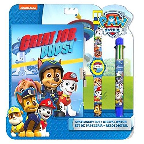 Original Pfote Patrol, Chase, Marshall & Schutt Digital Watch + Wallet, offizielle lizenziert, Kinder Geschenkset.