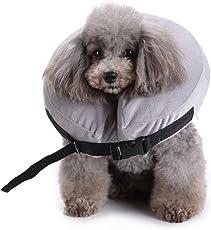 AIHOME Aufblasbar Halsband für Haustier Hund Katze Bequem Weich Recovery Schwimmen Schutz für Haustier Hund Nackenschutz Kissen