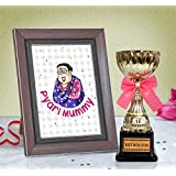 TiedRibbons Mothers Day Gifts | Mothers Day Gifts From Daughter | Mothers Day Gifts From Son | Mothers Day Special Gifts | Golden Trophy And Mother's Day Special Quoted Frame