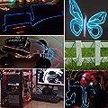 SOLMORE 5x 1m Fünf Farben EL Wire Leuchtschnur EL Kabel Lichtschnur Band Lichtschlauch Leucht Schnüre Neon Draht Light Lampe Beleuchtung Lichtband Lichtleiste Streifen für Weihnachtsfeiern von SOLMORE