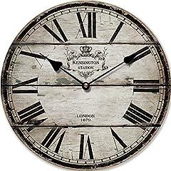Idea Regalo - OROLOGIO DA PARETE DESIGN LONDON 1879 SHABBY CHIC - Tinas Collection