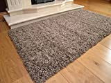 Soft Touch Shaggy Taupe Thick Luxurious Soft 5cm Dense Pile Rug. Available in 7 Sizes (80cm x 150cm)