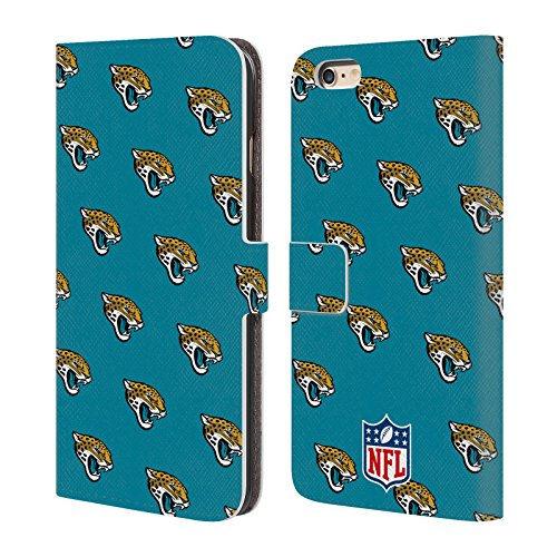 Ufficiale NFL Righe 2017/18 Jacksonville Jaguars Cover a portafoglio in pelle per Apple iPhone 4 / 4S Pattern
