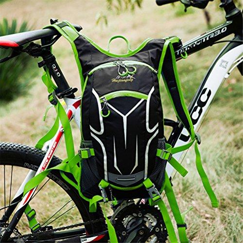SHTH Damen Herren Wasserdicht Fahrrad Rucksack Outdoor Sportrucksack Rucksack 18L Grün