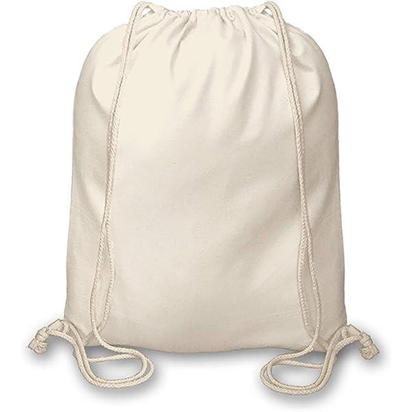 5-50 Packs 100/% Cotton Natural Drawstring Bags Tote Gym Eco-Friendly Bag Cord
