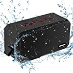 Portable Bluetooth Speakers, DEEPOW 10W IP67 Waterproof Wireless Speaker with 3000mAh Power Bank, Mini Outdoor Stereo Bluetooth Speaker with 12h Playtime, Dual Drivers, Enhanced Bass, Built-In Mic, Support TF Card, AUX Line-In and Handsfree Call