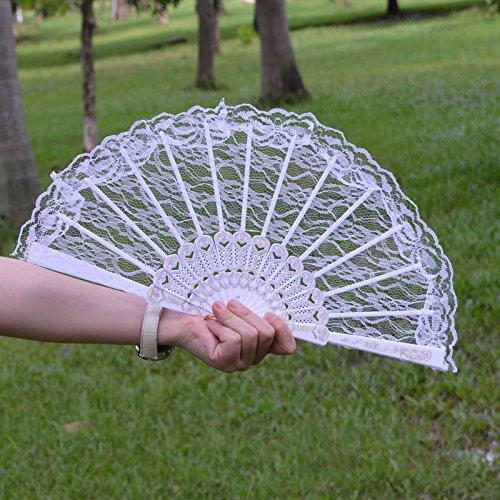 KAKOO Spitze Handfächer Spanische Fächer Faltbar Taschenfächer Dekofächer Für Karneval Kostüm Theater Party Feste Hochzeit (Japanische Theater Kostüme)