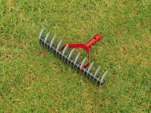 2in1 Rasenlüfter mit Rasenrechen 35cm Rechen Vertikutierer beidseitig