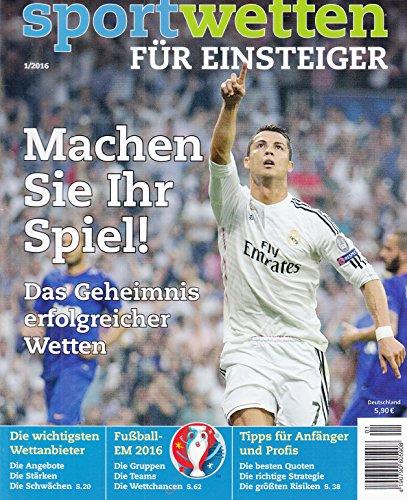 Sportwetten für Einsteiger 1 2016 Cristiano Ronaldo Zeitschrift Magazin Einzelheft Heft Wetten