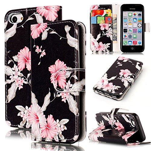 Wallet Case für iPhone 7, Sunroyal Marmor Design Brieftasche Hülle PU Lederhülle mit TPU Silicone Shell Bookstyle Standfunktion Kreditkartenfach Magnetverschluss Card Slot Etui für iPhone 7, 4.7 Zoll- Pattern 6