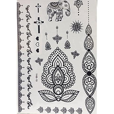 BELLA tatuaggio all'hennè Tatuaggi Tatoo FLASH Temporanei