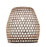 Lampenschirm Basket Bambus M, 40x40cm - natur, Bambuslampen aus Bali, handgemachte Lampenschirme aus Bambus, als Hängelampe, Pendelleuchte über Esstisch, im Kinderzimmer oder als Wohnzimmerlampe.