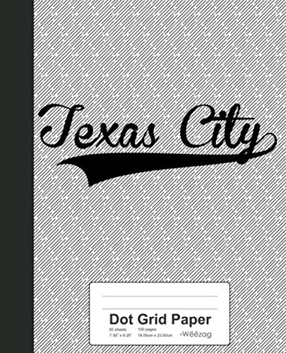Dot Grid Paper: TEXAS CITY Notebook (Weezag Wine Review Paper Notebook, Band 3997) - Texas Wein