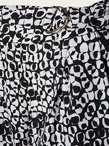 FILIPPA K Damen Stoffhose Print Fay Belt black/white Navy Black