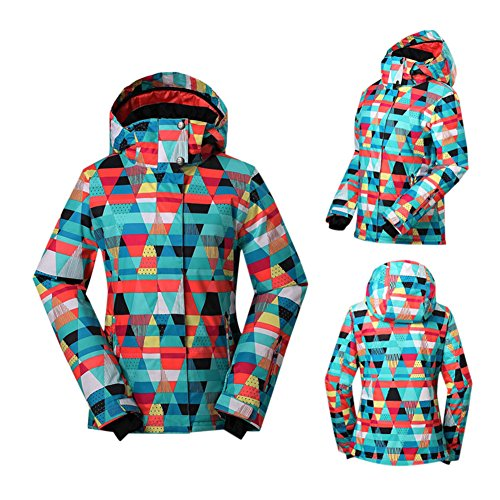 Haodasi Frauen Winter Oberbekleidung Wandern Mäntel Hoodies Skianzug Wasserdichte Snowboardjacke Coats