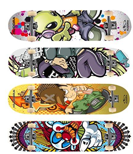 Skateboard Hudora Instinct 2.0 ABEC 1 Ahornholz, farblich sortiert