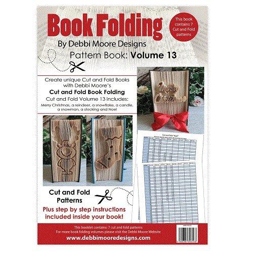 Debbi Moore Buch zusammenklappbar Muster Buch Volumen 13Schnitt & Falz Merry Christmas Noel (Moore Bleistift)
