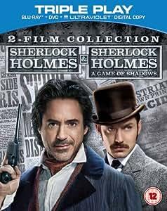 Sherlock Holmes and Sherlock Holmes: A Game of Shadows  - 2 Film Collection [Blu-ray] [2009] [Region Free]