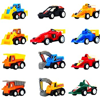 Set da 6 Pezzi BBLIKE Macchine Bambini Giocattolo,Camion Giocattolo Macchine Bambini Giochi del Veicoli Auto per Bambini 1-3 Anni Regalo di Natale Regalo di Compleanno per Bambini 6 Pezzi