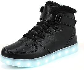 FLARUT 7 Farben LED Schuhe USB Aufladen Leuchtschuhe Licht Blinkschuhe Leuchtende Sport Sneaker Light up Turnschuhe Damen Herren Kinder
