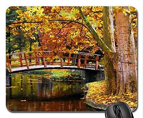 Herbst Bridge Mauspad, Mousepad (Brücken Maus Pad) #001