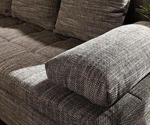 Couch Juline Grau 200x155 mit Schlaffunktion Ottomane variabel Ecksofa - 5