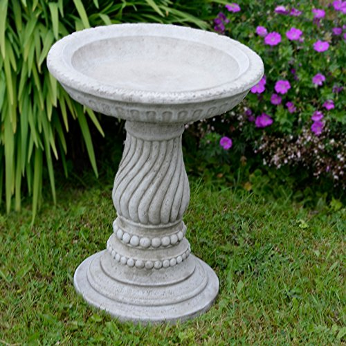 Twist Bird Bath / Feeder Ornament Detailed Cast Stone Garden