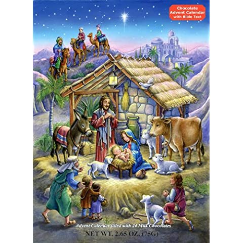 Peaceful Prince Chocolate Advent Calendar, 2.65 oz by Vermont Christmas Company