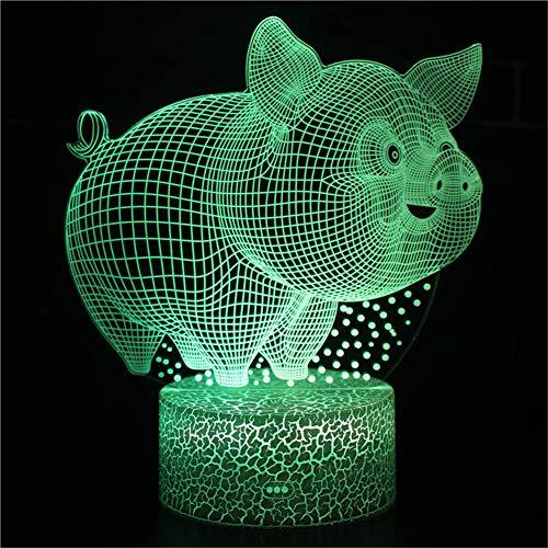 Bbdeng Luz Nocturna 3D Hucha Toque cambio color entorno