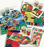 Party-Set Party-Geschirr Party-Dekoration Papp-Teller-Becher Fasching Karneval Mottoparty Kindergeburtstag Design: Pirat